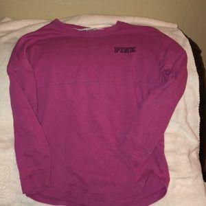 vs pink crew neck sweatshirt